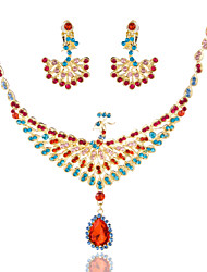 Peacock Ladies'/Women's Alloy Wedding/Party Jewelry Set With Multi-stone
