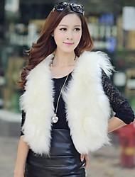 casaco de pele colete feminino