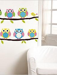 Animais / Vida Imóvel / Moda / Fantasia Wall Stickers Autocolantes de Aviões para Parede Autocolantes de Parede Decorativos,PVC Material