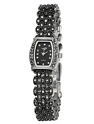 Women's Fashion Ladies Royal Fashion Rectangle Dial mistery Black Stainless Steel Casual Elegant Bracelet Dress Watches