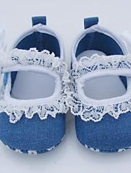 Para Niña-Tacón Plano-Primeros Pasos / Zapatos de Cuna-Bailarinas-Casual-Tela-Azul