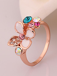 Vintage Rose Alloy Diamond Ring(Rose Gold)(1Pc)