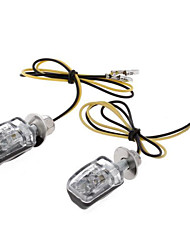 2x Yellow 6 LED Motorcycle Turn Signal Indicator Light Lamp Black Shell