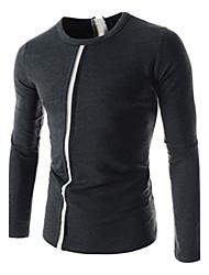 etro Männer Casual Kontrastfarbe Streifen-T-Shirt