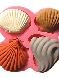 Marine Series Shell Collection Fondant Cake Molds Soap Chocolate Mould For The Kitchen Baking Cake Tool Decoration