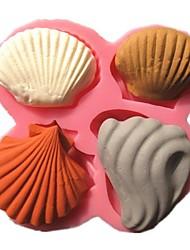 marine shell série moldes do bolo coleção fondant sabão molde de chocolate para a ferramenta de bolo assando cozinha decoração