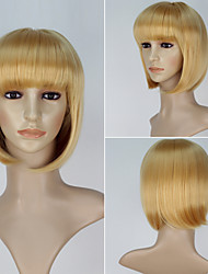 New Movie Paddington Bear Millicent Women Short Straight Golden Color Anime Cosplay Wig
