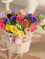 """6,3 """"5,9"""" l h roses romantiques dans le panier de fleur"""