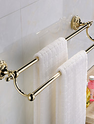 Contemporary TI- PVD Finish Stainless Steel Material Double Towel Bar