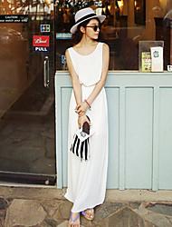 Women's Bohemia Simplicity Backless Beach Maxi Dress