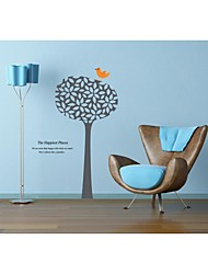 Wall Stickers Wall Decals, Style Tree And Bird PVC Wall Stickers