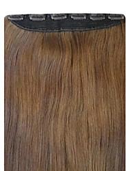 vendita caldo clip di fibra ad alta temperatura in estensione dei capelli dritti 24 pollici 1pc / lot