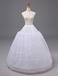 Wedding6Tiers Floor-length Nylon Organza Petticoats Slips