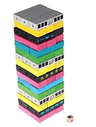 Цвета Jenga дизайн деревянные строительные блоки Jenga набор игрушек для детей