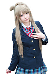 Angelaicos Women Love Live! Minami Kotori Girl Long Blonde Ponytail Halloween Party Costume Cosplay Wig
