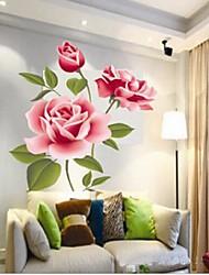 riquezas ambientales y flor de / etiqueta de la pared salón dormitorio