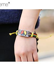 Lureme® European Style Leather Bracelet Peace Jamaica Halloween  Bracelet Men'S Bracelet