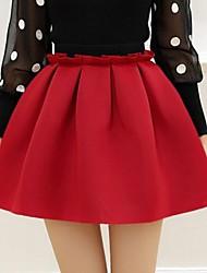 moda de alta saia cintura das mulheres