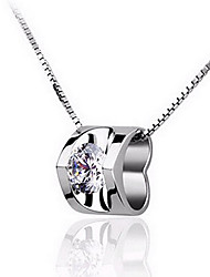 Weiyinyuan 925 Silver Necklace Diamond Pendant