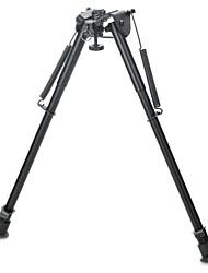 """13 """"soporte de aleación de aluminio retráctil por resorte táctico rifle bípode para m4 / m16 (máx. 50 kg)"""