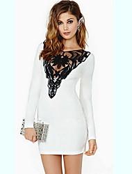 novo vestido de renda bodycon europeu das mulheres r.o.abby