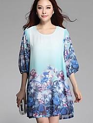 Women's Fashion Print Loose  Dress