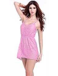 Women's Lace/Polyester Sexy Solid Color Cut Out Strap Cover-Ups