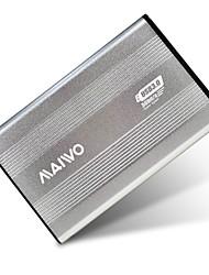 "maiwo 2.5 ""usb 3.0 sata externe harde schijf hdd behuizing zilver k2501au3s"