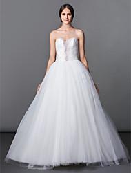 Trapèze / Princesse Petites Tailles Robe de Mariage  Longueur Sol Coeur Tulle avec