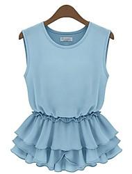 Women's Blue/White/Black T-shirt Sleeveless