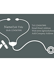 Business Cards 200pcs Hospital and First Aid Service Pattern 2 Sided Printing of Fine Art Filmed Paper