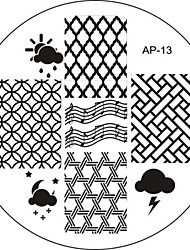 Nail Art Stamp Stamping Image Template Plate AP Series NO.13