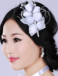 Luxurious Retro Exaggerated Leaves Rose Bridal Headpiece