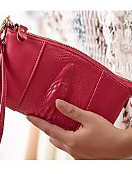 MEGA Women's Genuine LEATHER Clutch Bag Coin Purse Wrist bag Handbag Cell Phone Bag