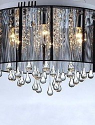 Luxury Black Drop Ceiling Crystal  Chandelier