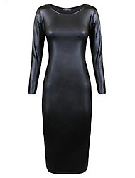 Women PU Dress , Without Lining