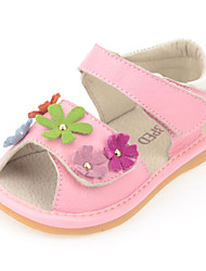 Baby Shoes Dress/Casual Calf Hair Sandals Pink