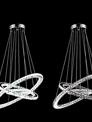 LED Crystal Chandelier Lighting Lamps Transparent Crystal Round 3 Rings 20CM Plus 30CM Plus 40CM Light Fixtures