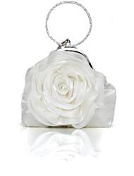 Handbag Silk Evening Handbags/Clutches With Flower/Chain