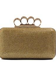 Ladies Stylish Gold Minaudiere Purse Clutch