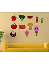 Wall Stickers Wall Decals, Style Fruits And Vegetables PVC Wall Stickers