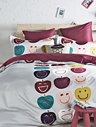 Multi Color Solid  Cotton Queen Duvet  Sheet Sets