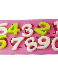 FOUR-C Sugar Craft Tools Number Cake Embossing Mould,Cake Decoration,Fondant Decorating Tools Supplies Color Pink