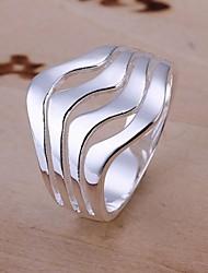 Anéis Casamento / Pesta / Diário / Casual Jóias Prata de Lei Feminino Anéis Statement 1pç,8 Prateado