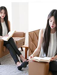 Fashion New Black Carve Long Straight Hair Wig