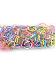 600pcs Rainbow Color Loom Style Silicone Bands 600pcs Bands,1 Loom,1 Hook,24 C or S-clips