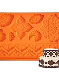 FOUR-C Silicone Moulds Flower Fondant And Sugarpaste Mat,Cake Supplies Fondant Mat Gum Paste Mat Cake Tools