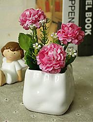 hygrangeas rosa artificial flores com vaso