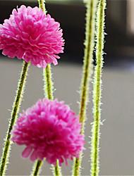 cinq têtes rose hygrangeas rouges artificiels fleurs pack 2