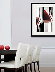 E-Home® gerahmtes Leinwandkunst, Weinbecher gerahmte Leinwanddruck